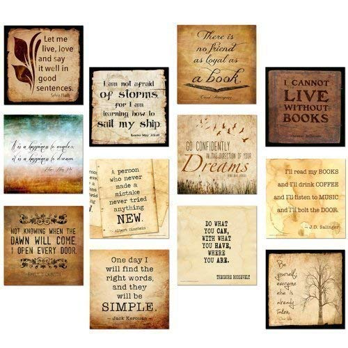 Classic Quotes Motivational Poster Set. Discount Classroom Bundle Featuring Thoreau, Jefferson, Wilde, Dickinson, Poe and more. Fine Art Paper, Laminated, or Framed. Multiple Sizes Available