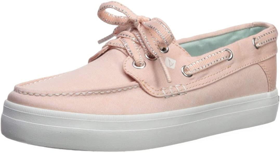 SPERRY Girls' Crest Resort Boat Shoe, Soft Pink, 035 Medium US Big Kid