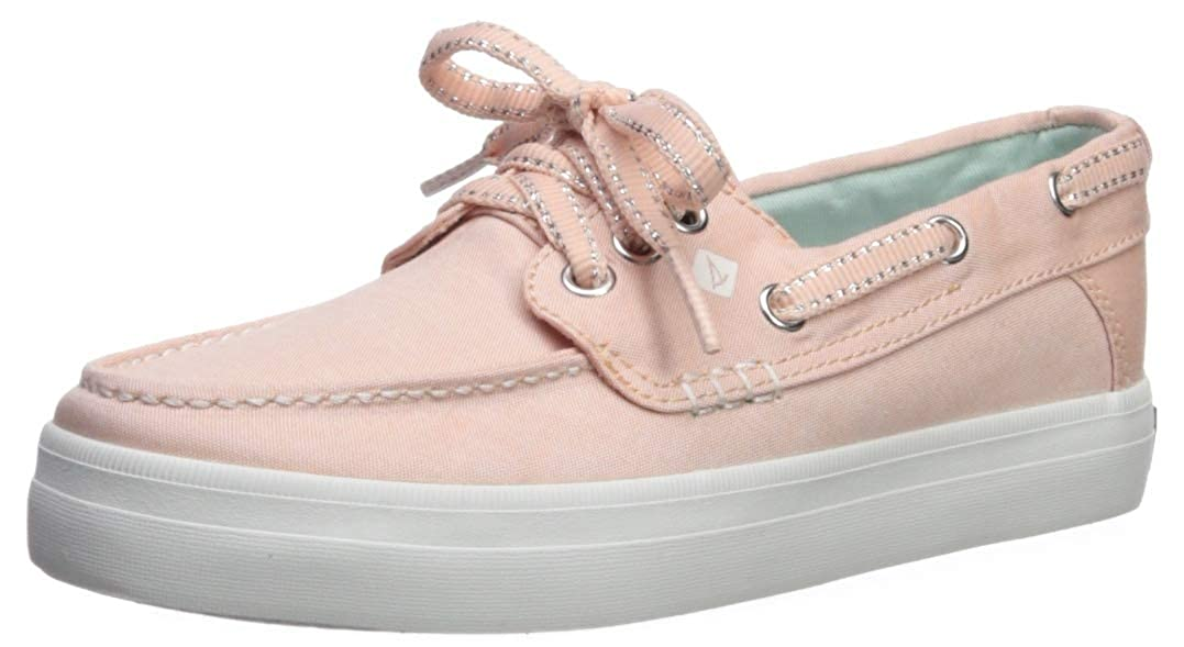 SPERRY Girls' Crest Resort Boat Shoe, Soft Pink, 040 Medium US Big Kid