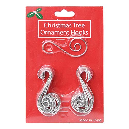 Holiday Living 24-Pack Assorted Decorative Metal Christmas Ornament Hooks 663383B