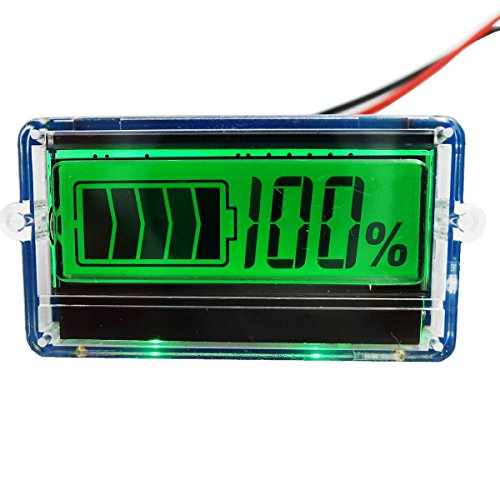 GEREE LCD Battery Capacity Tester Indicator for 12V 24V Lead-acid/Pb-Acid Lithium LiPo Battery