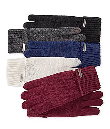 - Steve Madden Women's Solid Boyfriend Gloves Navy Gloves