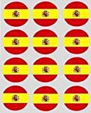 12 Spanish Flag rice paper fairy / cupcake 40mm toppers pre cut cake decoration
