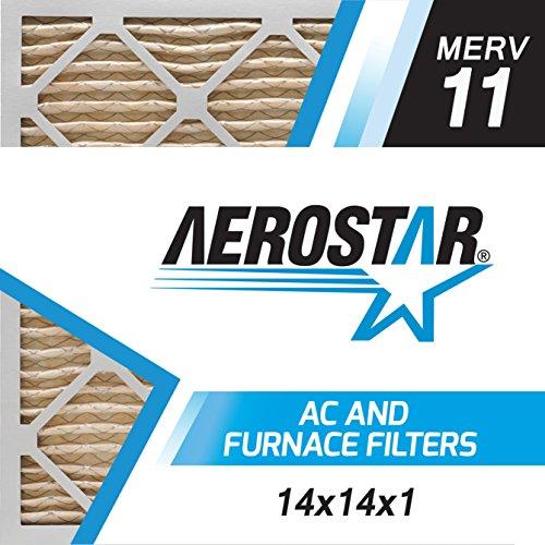 14x14x1 AC and Furnace Air Filter by Aerostar - MERV 11, Box of 6