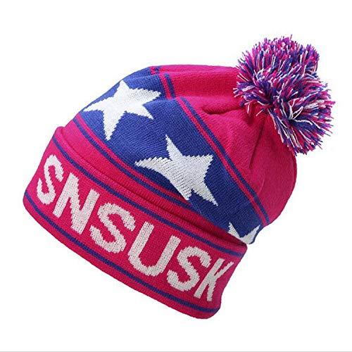 Skull Caps T-rex RexxonMobile Winter Warm Knit Hats Stretchy Cuff Beanie Hat Black