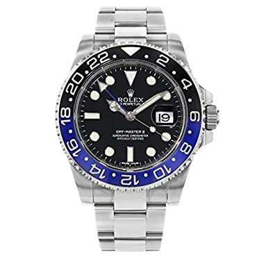 Rolex Gmt Master Ii Black Dial Stainless Steel Mens Watch 116710