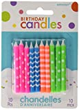 Amscan (Amsdd Party Time Printed Assorted Neon Birthday Candles (120 Piece), Multi /Wax, 2.5''
