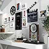 LQQGXL Frame, modern minimalist atmosphere retro living room bedroom composition wood photo wall one hundred circle photo frame Photo frame ( Color : B )