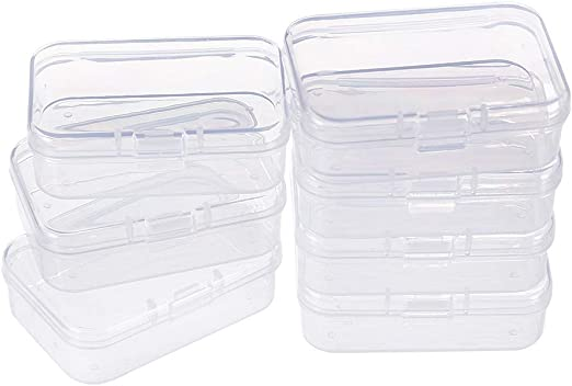 BENECREAT 18 Pack Rectangulos Caja de plastico Transparente con ...