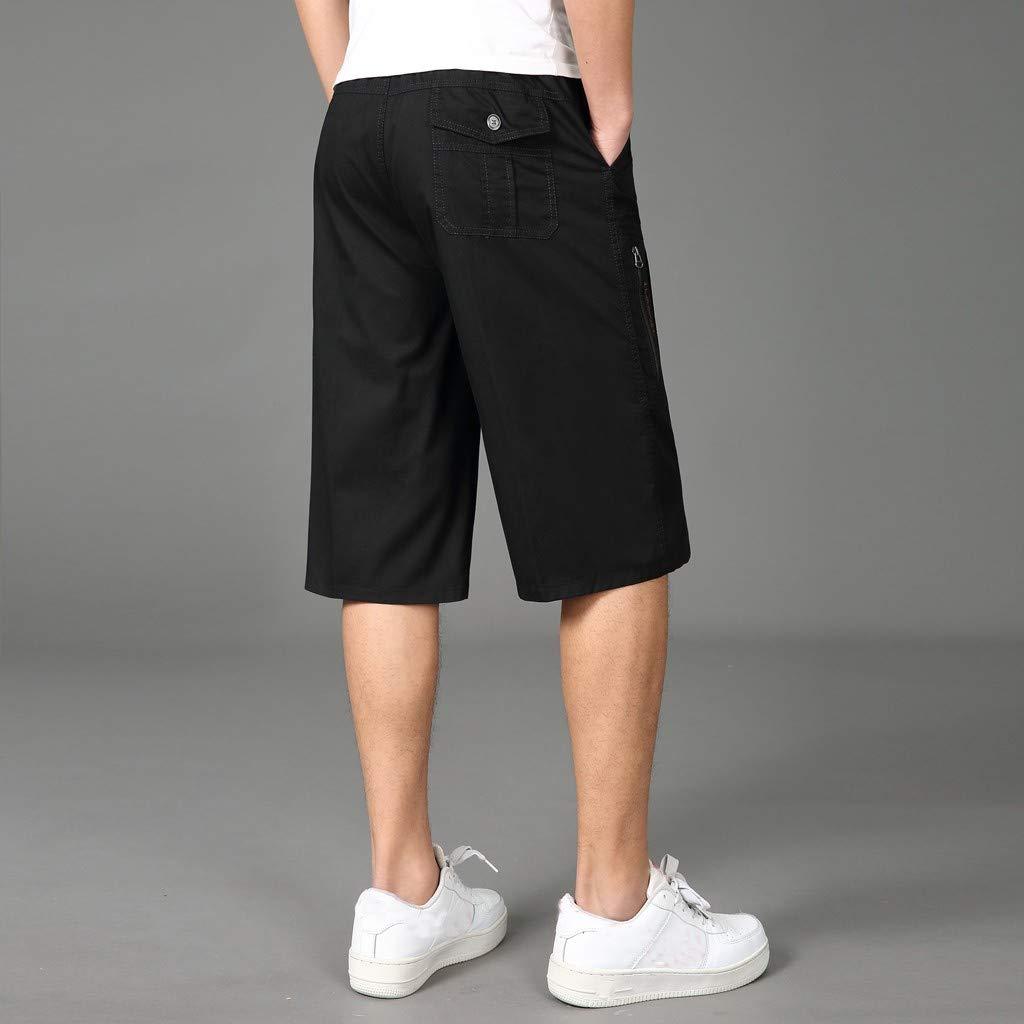 LEERYAAY Cargo/&Chinos Fashion Men Summer Casual Solid Trunks Elastic Beach Surfing Running Pants