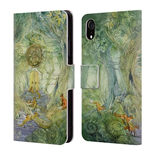 Descant Book - Official Stephanie Law Green Gate Descants and Cadences Leather Book Wallet Case Cover for iPhone XR