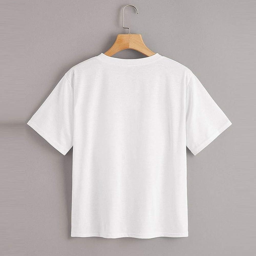 Berimaterry T Shirt Mujer Blanca Blanco Camisetas de Mujer Tumblr Vogue Camiseta Mujer Casual Top tee Mujer Camiseta Tallas Grandes Slim Fit Camisas Mujer Blusas Camisetas Mujer Manga Corta Verano: Amazon.es: Ropa