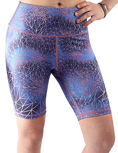 Yogareflex-Womens-Tummy-Control-Active-Printed-Workout-Runing-Yoga-Shorts