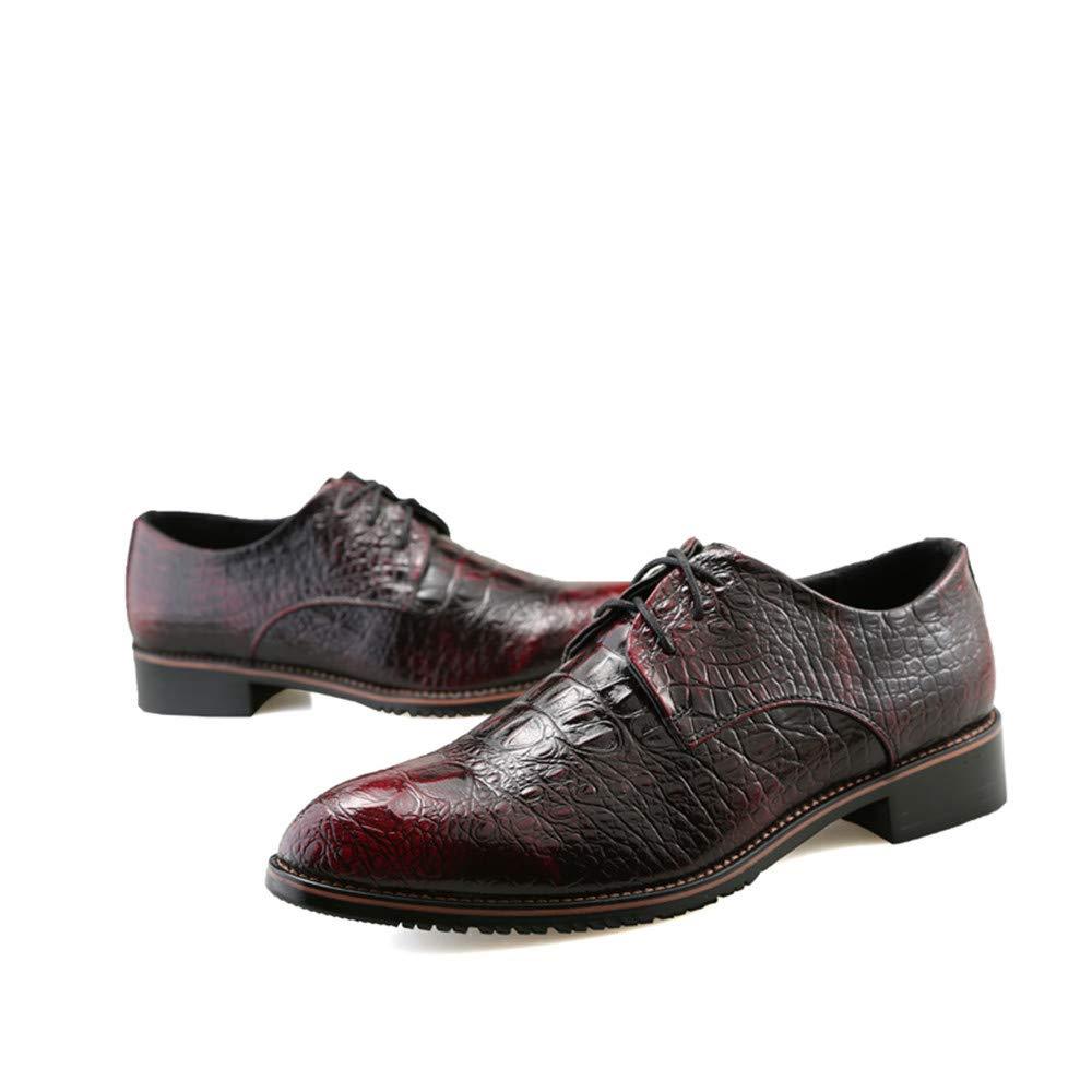 Herren Business Oxford Casual New Krokodil Britischen Rot Spitzen Gürtel Formelle Schuhe Rot Britischen 0d2f1f