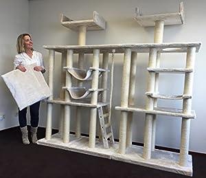 cat tree cat temple extreme elite cream white cat. Black Bedroom Furniture Sets. Home Design Ideas