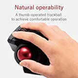 ELECOM M-XPT1MRXBK Trackball Mouse, Wired, Wireless Bluetooth, Gaming, High-Performance Ruby Ball, 8 Mappable Buttons, Smooth Scrolling, Extra Large, EX-G PRO, Black