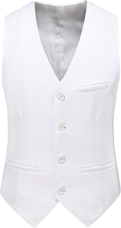 MOGU Mens Waistcoat Casual Suit Vest 18 Colors for Prom Party