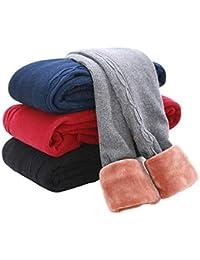 Girls Winter Thick Leggings Fleece Lined Warm Kids Leggings Pants
