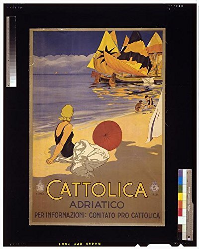 - Photo: Cattolica Adriatico,Adriatic Coast,Italy,Beach,Boats,Woman,1925,Promoting Travel