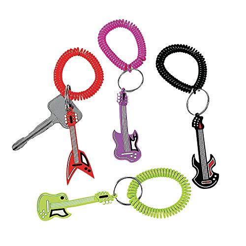 - Fun Express Rock Star Rubber Key Chains (1 Dozen)