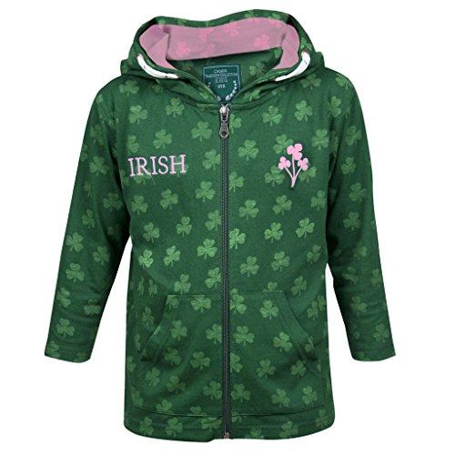 Irish Shamrocks Zip Hoodie - 1