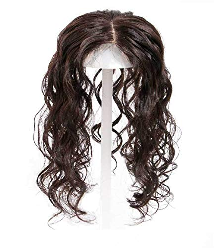 Curly Human Hair Crown Topper for Women with Thinning Hair, Clip in 3.5