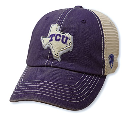 Top of the World TCU Horned Frogs Men's Mesh-Back Hat Icon, Purple, Adjustable -