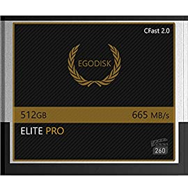 EgoDisk Elite PRO 512GB CFast 2.0 Card - BLACKMAGIC Design URSA Mini 4K • 4.6K 2160p Lossless RAW up to 45 FPS - 3 Year Warranty 49 EgoDisk.com  3 Year USA Limited Warranty  Global Shipping Video Performance Guarantee-260 ( VPG-260) Memory Type: CFast 2.0  Capacity: 512GB  Speed:665MB/s