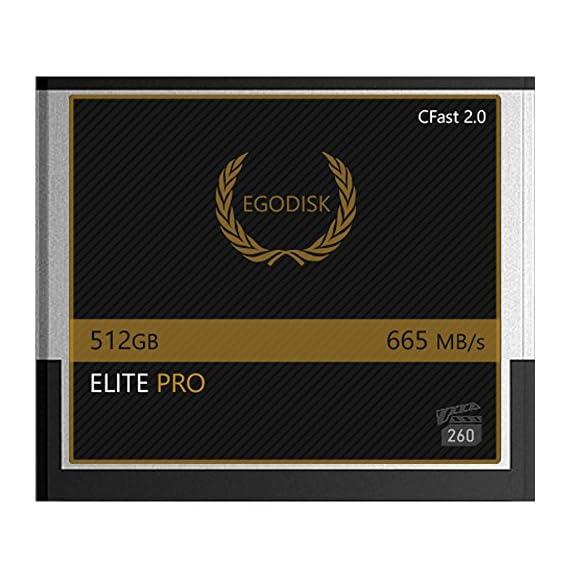EgoDisk Elite PRO 512GB CFast 2.0 Card - BLACKMAGIC Design URSA Mini 4K • 4.6K 2160p Lossless RAW up to 45 FPS - 3 Year… 1 EgoDisk.com  3 Year USA Limited Warranty  Global Shipping Video Performance Guarantee-260 ( VPG-260) Memory Type: CFast 2.0  Capacity: 512GB  Speed:665MB/s