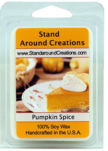 - 100% All Natural Soy Wax Melt Tart - Pumpkin Spice: A true-to-life fragrance bursting with fresh pumpkin. Mouthwatering notes of butter, sugar, and spices complete this irresistible bakery fragrance. - 3oz - Naturally Strong Scented