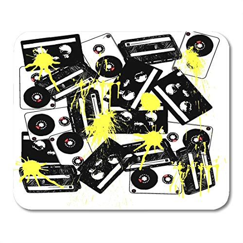 Emvency Mouse Pads Graphic Music Tape York Crest Blaster Getto Rap Jazz Mouse Pad for notebooks, Desktop Computers mats 9.5
