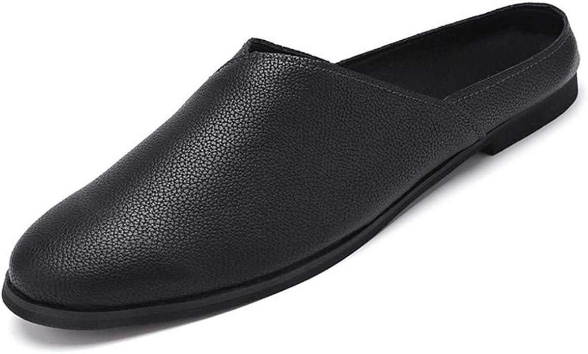 MizHome Men's Slip-on Mules Shoes