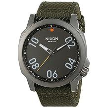 Nixon Men's Ranger 45 A5142072 Green Nylon Quartz Watch