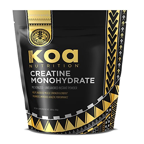 100% Creatine Monohydrate Powder by Koa Nutrition | Scientifically-Proven Muscle Building Supplement - 1lb Bag
