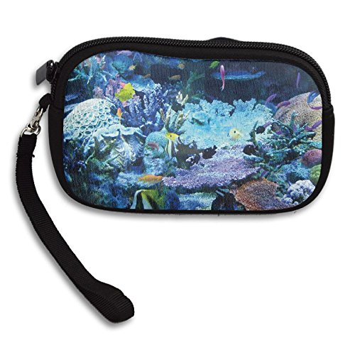 Receiving Deluxe Bag Purse Printing Coral Small Fish Underwater Portable zq0w44