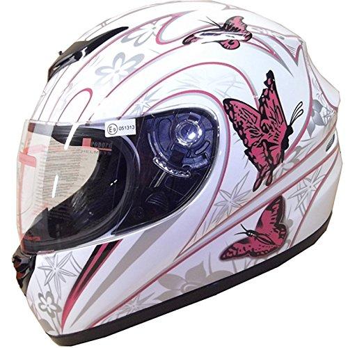 Pink Butterfly L Leopard LEO-819 ECE 2205 Approved Full Face Motorbike Helmet Motorcycle Helmet 59-60cm