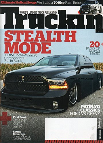 (TODAYS TRUCKIN August 2018 Magazine FIRST LOOK: GMC's 2019 SIERRA AT4, OFF-ROAD LUXURY Event Coverage: Grand National Roadster Show ULTIMATE HELLCAT SWAP: WE BUILD A 700hp RAM REBEL)