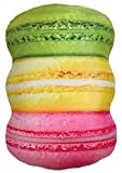 iscream Sugar-riffic! Pastel Macaron Stack 19'' Photoreal Print Microbead Pillow