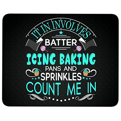 Involves Icing Baking Mouse Pad, I Love Icing Baking great gift idea Mousepad(Mouse Pad - Black) -