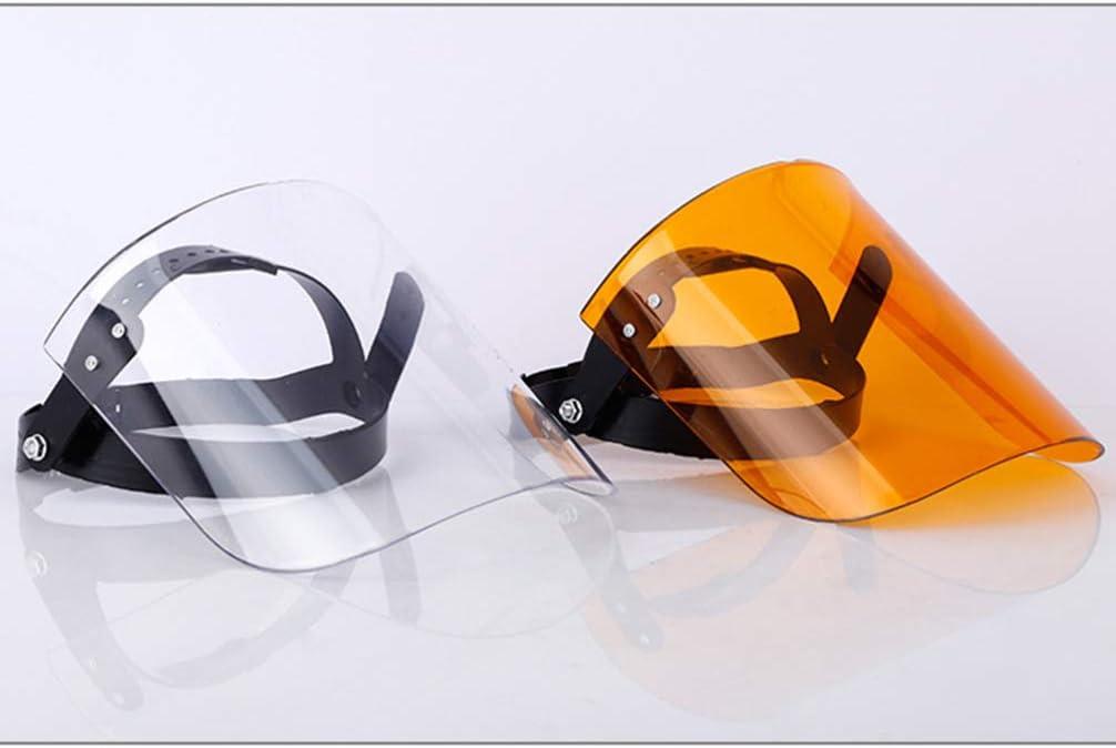 Bianco Garneck 2 Pezzi di Sicurezza Visiera Protettiva Scudo Trasparente Protezione degli Occhi Rimovibile Anti Saliva Starnuto Tesa Larga Antiappannamento