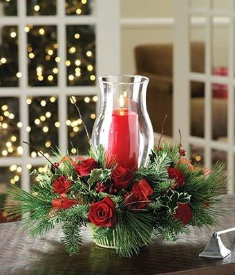Christmas Wonders - eshopclub Same Day Christmas Flower Delivery - Online Christmas Flowers - Christmas Flowers Bouquets & Plants - Send Christmas Centerpiece by eshopclub