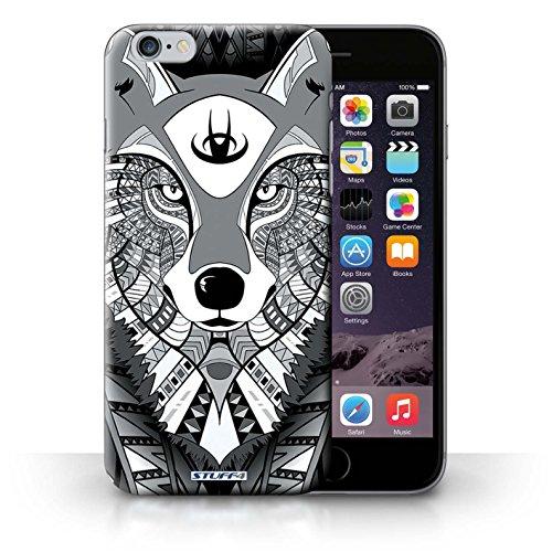 Etui / Coque pour iPhone 6+/Plus 5.5' / Loup-Mono conception / Collection de Motif Animaux Aztec