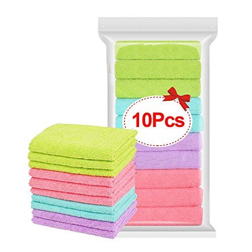 Wash Cloth Paños de cocina toallas de cocina trapos algodón paño de limpieza de microfibra lavable en lavadora Bar para el...