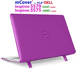 "mCover Hard Shell Case for 15.6"" Dell Inspiron 15 5570 (Intel) / 5575 (AMD) Laptop (NOT Compatible with Other Dell Inspiron 5000 Series Models) Laptop (Purple)"