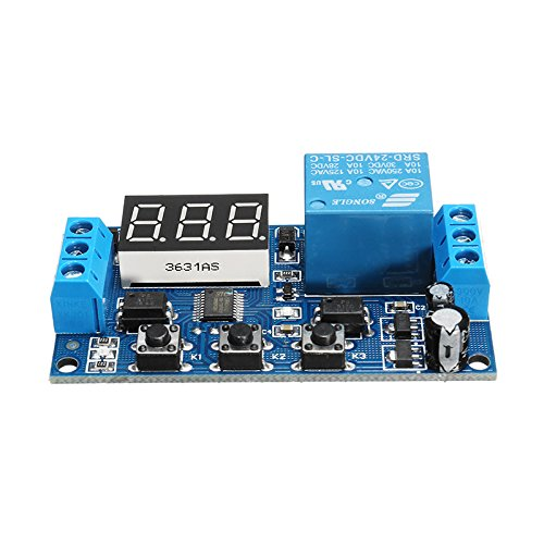 24V Adjustable Pulse Trigger Delay Cycle Timer Delay Switch Relay Control Module - Arduino Compatible SCM & DIY Kits by Davitu Module Board (Image #2)