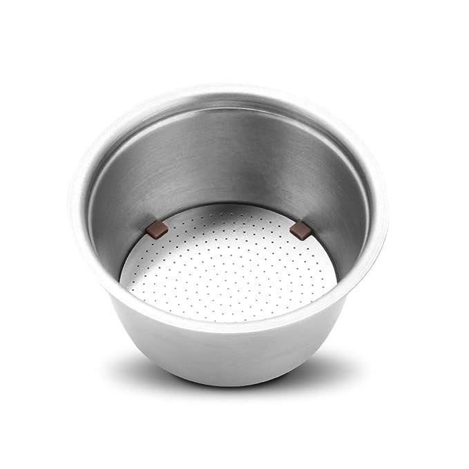 OurLeeme Taza de cápsulas de café Recargable Nespresso Inox Cápsulas vacías Taza de filtro de café reutilizable de acero inoxidable Taza de café Inoxidable ...