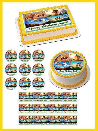 Spirit Stallion Of The Cimarron - Edible Cupcake Toppers - 1.8