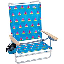 Rio Beach Classic 5 Position Lay Flat Folding Beach Chair - Watermelon