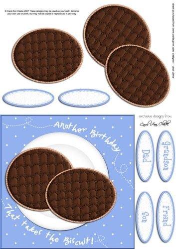 Chocolate digestivo galletas cumpleaños 3d Decoupage por ...