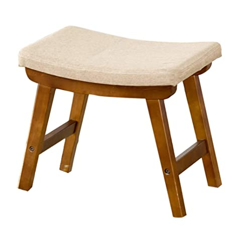 Amazon.com: Foot stool Small Wooden Upholstered, Bedroom ...